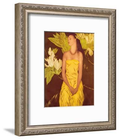 Meleana, Christmas Card from The Honolulu Star Bulletin, c.1950-John Kelly-Framed Art Print