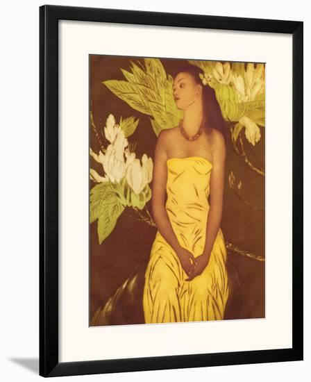 Meleana, Christmas Card from The Honolulu Star Bulletin, c.1950-John Kelly-Framed Giclee Print