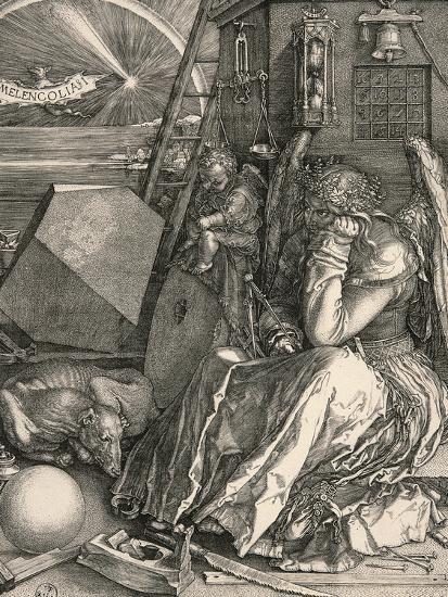 Melencolia I-Melancholia I-Albrecht D?rer-Premium Giclee Print