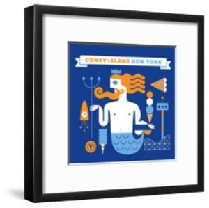Coney Island Merman by Melinda Beck