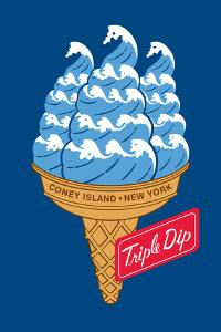 Coney Island Triple Dip by Melinda Beck