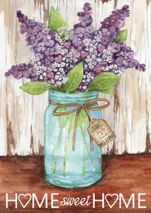 Lilacs Home Sweet Home Jar by Melinda Hipsher