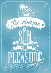 Beautiful Seaside View Poster. With Typography by Melindula