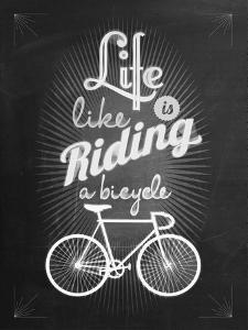 Bicycle Vintage Typographical Background by Melindula
