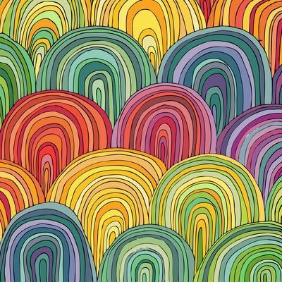 Colorful Circle Modern Abstract Design Pattern