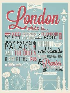 London Typographical Background by Melindula