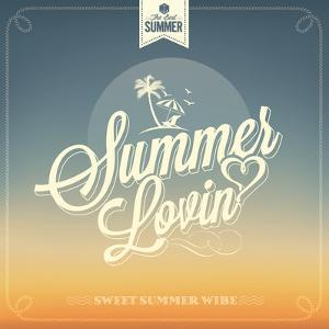 Summer Lovin Typography Background For Summer by Melindula
