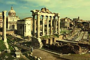 Vintage Postcard with Foro Romano by melis