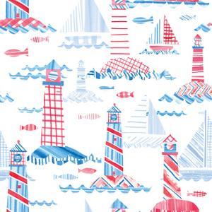 Coastal Americana Pattern VIII by Melissa Averinos