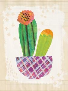 Collage Cactus II on Graph Paper by Melissa Averinos