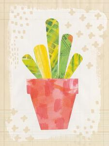 Collage Cactus VI on Graph Paper by Melissa Averinos