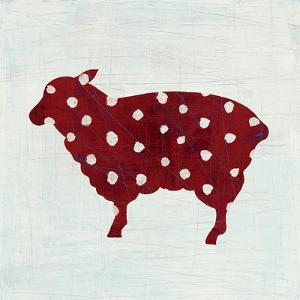 Modern Americana Farm II on White by Melissa Averinos