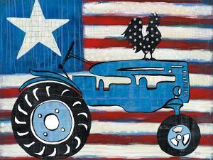 Modern Americana Flag with Tractor by Melissa Averinos