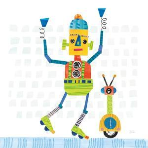 Robot Party I on Square Toys by Melissa Averinos