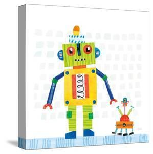 Robot Party IV on Square Toys by Melissa Averinos