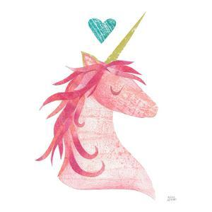 Unicorn Magic II Heart Sq by Melissa Averinos