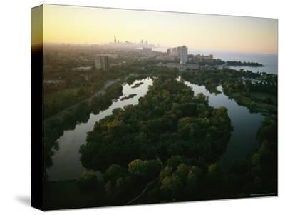 Aerial View of Jackson Park in Chicago