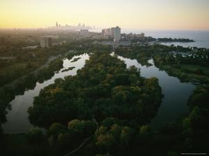 Aerial View of Jackson Park in Chicago by Melissa Farlow