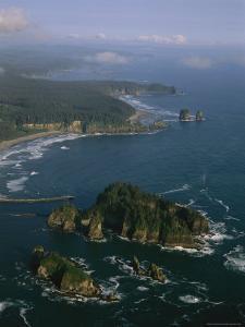 Aerial View of Washington's Coastline with Sea Stacks by Melissa Farlow