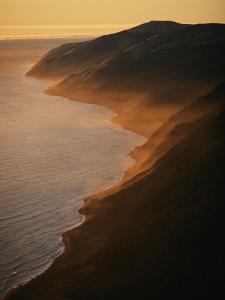 Aerial View of Waves Upon the Coast of Californias King Range by Melissa Farlow