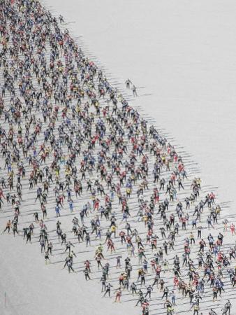 Cross Country Ski Marathon, St. Moritz, Switzerland by Melissa Farlow