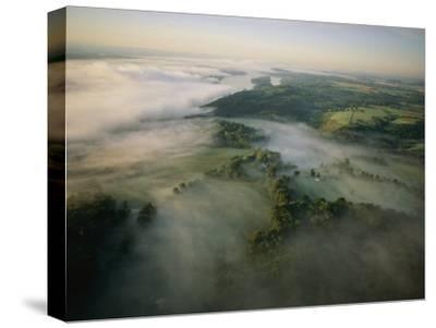 Fog Settles into the Hudson River Valley Near Saugerties