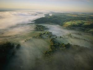 Fog Settles into the Hudson River Valley Near Saugerties by Melissa Farlow