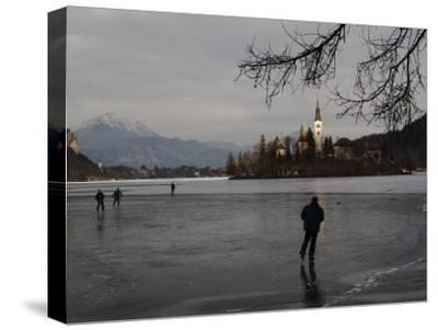 Hockey Players Brave the Cold and the Thin Ice for an Afternoon Game, Bled, Slovenia