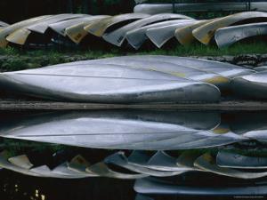 Rental Canoes Rest Beside the Suwanee Canal by Melissa Farlow