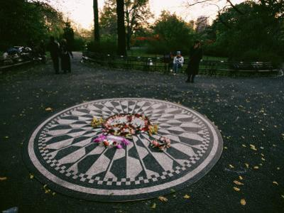 The Imagine Mosaic, a Memorial to John Lennon in Strawberry Fields