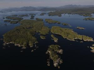 Wilderness islands off Prince of Wales Island at the Dixon Entrance by Melissa Farlow