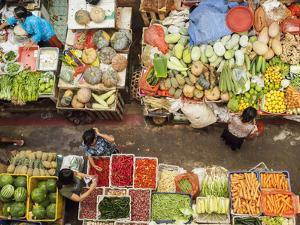 Covered market in Denpasar, Bali, Indonesia, Southeast Asia, Asia by Melissa Kuhnell