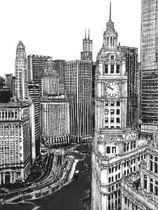 B&W Us Cityscape-Chicago by Melissa Wang