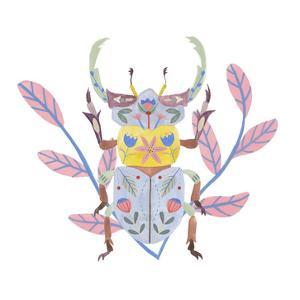 Floral Beetles IV by Melissa Wang