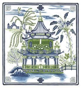 Pagoda Visit I by Melissa Wang