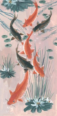 Traditional Koi Pond I by Melissa Wang