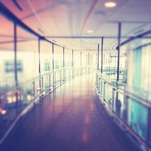 Hallway in Building with Glass by melking