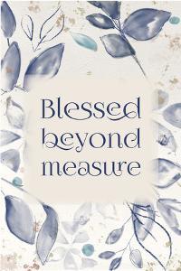 Blue Botanical Blessings 2 by Melody Hogan