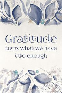 Blue Botanical Blessings 5 by Melody Hogan