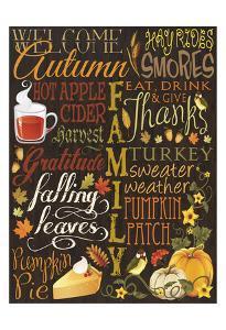 Fall Typo Set Brown by Melody Hogan