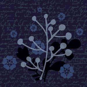 Indigo Olive Branch by Melody Hogan