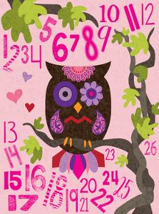 Owl Set Numlet Pinks 2 by Melody Hogan