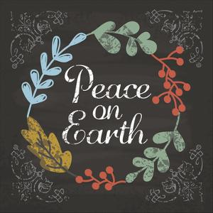 Peace on Earth Blue by Melody Hogan