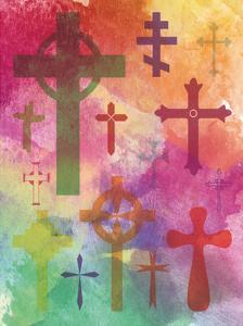 Watercolor Cross 1 by Melody Hogan