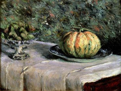 Melon and Fruit Bowl with Figs, 1880-82-Gustave Caillebotte-Giclee Print