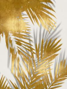 Palm Shadows Gold II by Melonie Miller