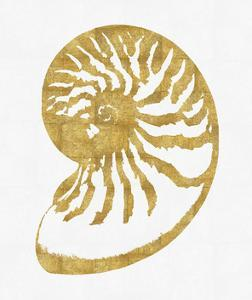 Sea Life - Gold on White III by Melonie Miller