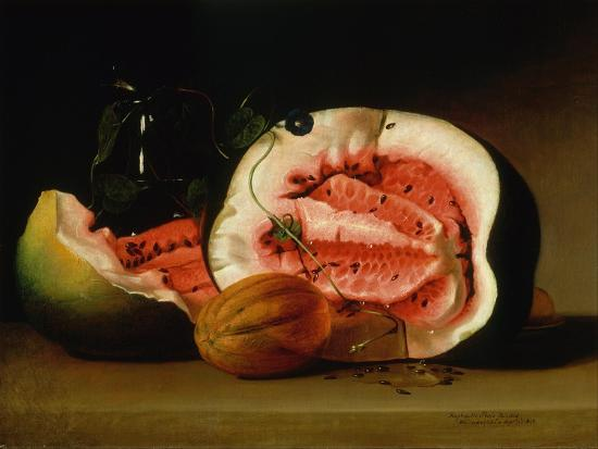 Melons and Morning Glories, 1813-Raphaelle Peale-Giclee Print