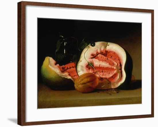 Melons and Morning Glories, 1813-Raphaelle Peale-Framed Giclee Print