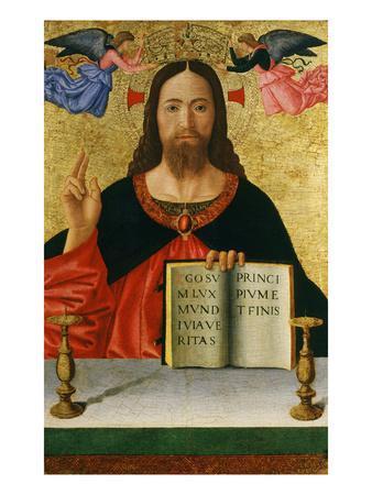 Christ Blessing the World (Inv 19) with Ins Ego Sum Lux Mundi Via Veritas Principium Et Finis